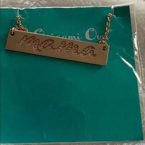 "Origami Owl Bar necklace ""Mama"""